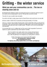 Winter Gritting Northamptonshire 2021